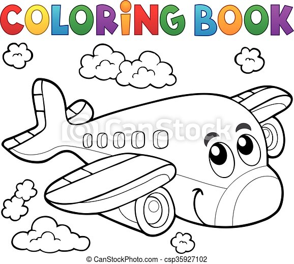 Coloring book airplane theme 2.
