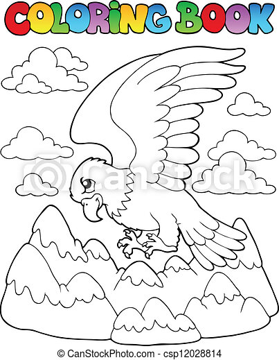 Coloring book bird image 2 - csp12028814