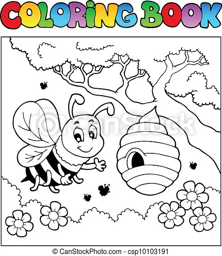 Coloring book bugs theme image 4 - csp10103191