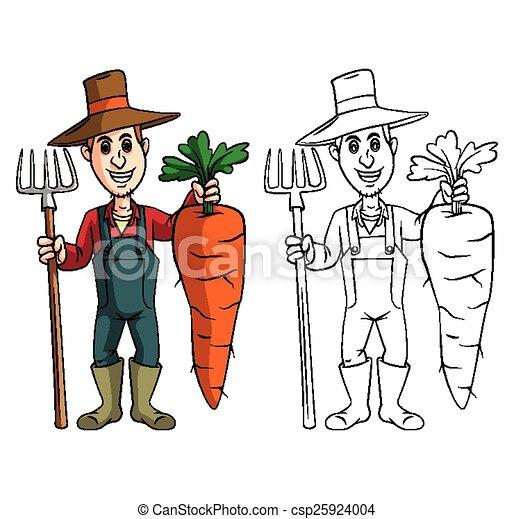 Coloring book Carrot character  - csp25924004