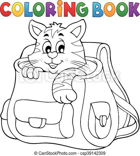 Coloring book cat - csp39142309
