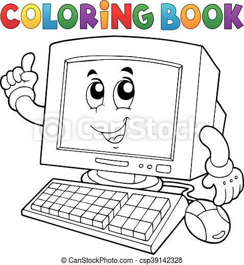 Coloring book computer - csp39142328