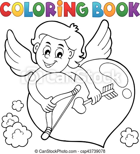 Coloring book Cupid topic 2 - csp43739078
