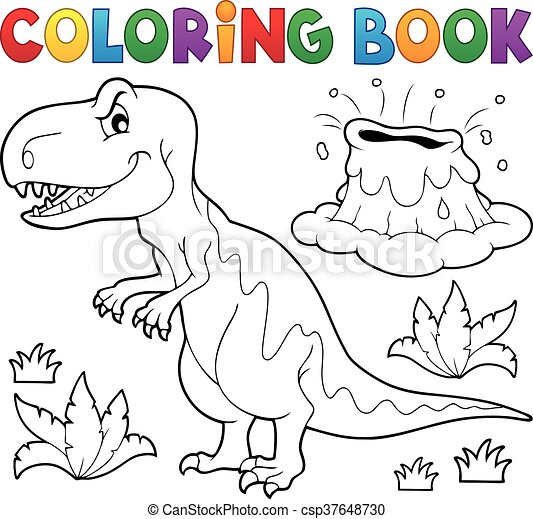 Coloring book dinosaur - csp37648730