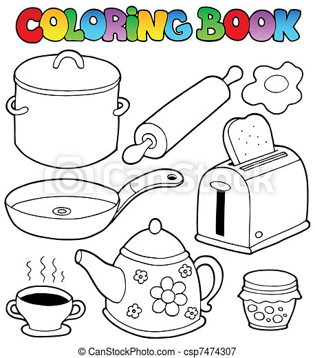 Coloring book domestic collection 1 - csp7474307