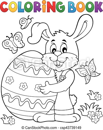Coloring book Easter rabbit theme 8 - csp43739149