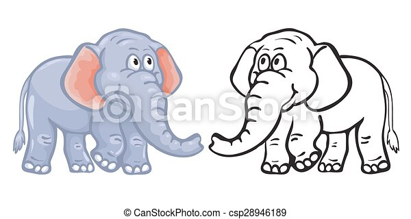 Coloring book elephant. vector - Search Clip Art, Illustration ...
