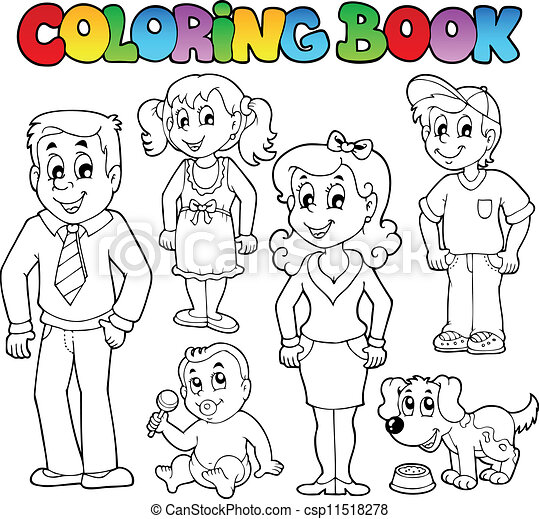 Coloring book family collection 1 csp11518278