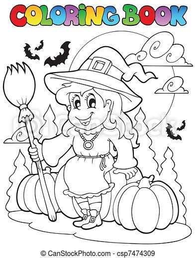 Coloring book Halloween character 4 - csp7474309
