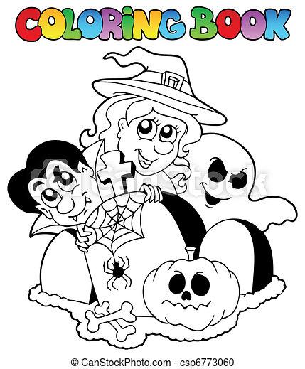 Coloring book Halloween topic 1 - csp6773060