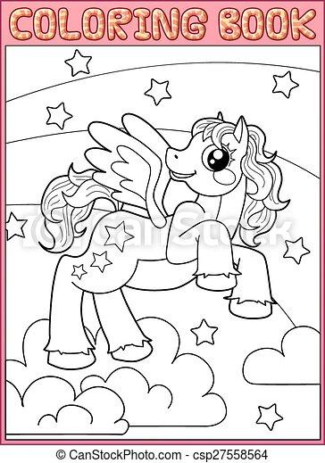 Coloring book. Little Pegas - csp27558564