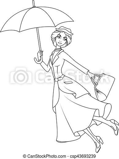 Mary poppins Vector Clipart EPS Images. 4 Mary poppins clip art ...