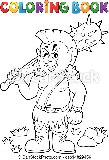 Coloring book orc theme 1 - csp34829456