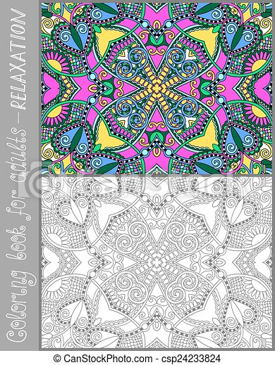coloring book page for adults - csp24233824