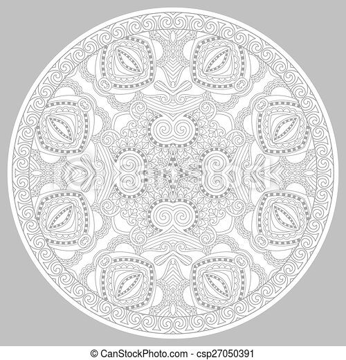 coloring book page for adults - zendala - csp27050391