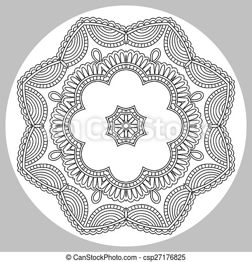 coloring book page for adults - zendala - csp27176825