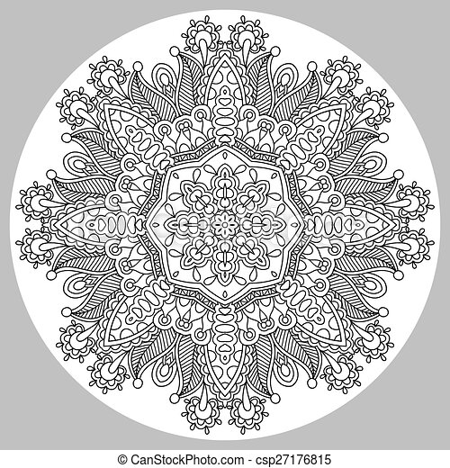 coloring book page for adults - zendala - csp27176815