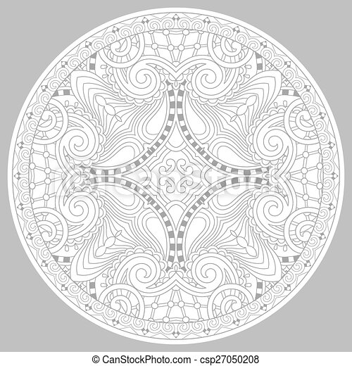 coloring book page for adults - zendala - csp27050208