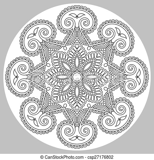coloring book page for adults - zendala - csp27176802