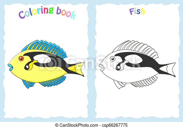 Triggerfish coloring pages - Hellokids.com | 319x450