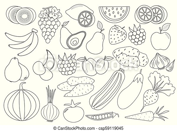 Coloring Pages: Coloring Book Fruits And Vegetables