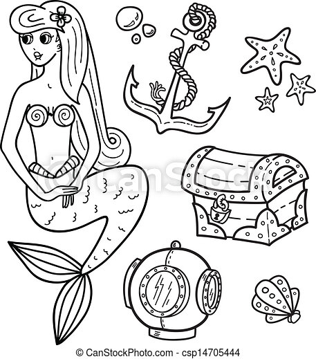 rockpool creatures coloring pages | Coloring book page - under the sea.