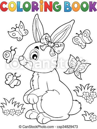 Coloring Book Rabbit Topic 2