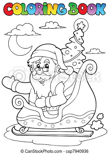 Coloring book Santa Claus theme 8 - csp7940936
