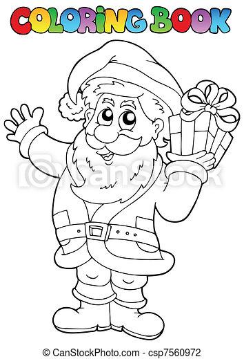 Coloring book Santa Claus topic 1 - csp7560972