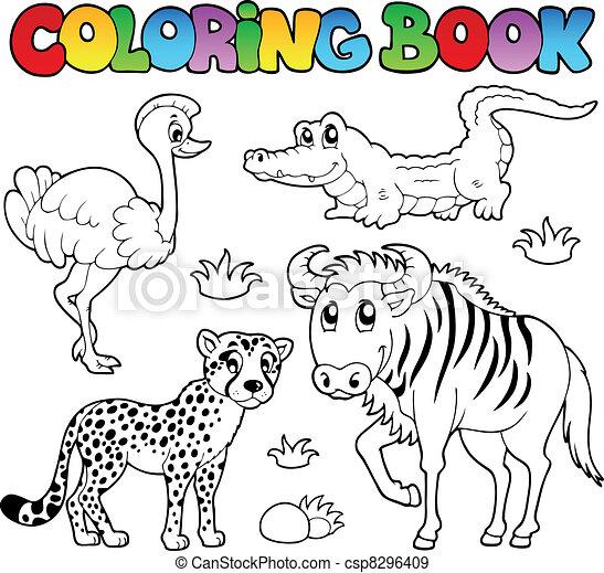Coloring book savannah animals 2 - csp8296409