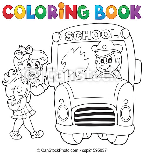 660+ Coloring Book School Bus Free