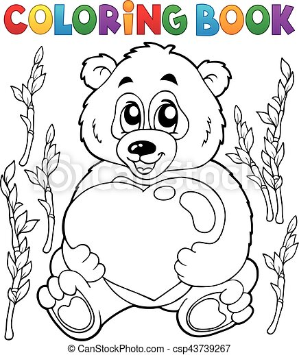 Coloring book Valentine - csp43739267