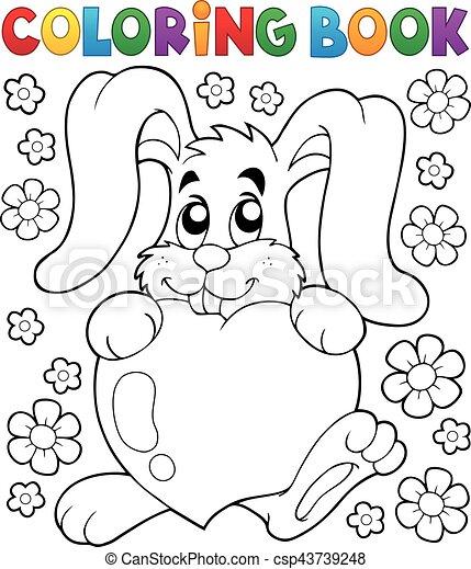 Coloring book Valentine - csp43739248