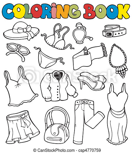 Coloring book with apparel 2 - csp4770759