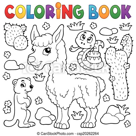 Coloring book with cute animals 4 - csp20262264