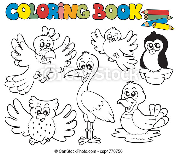 Coloring Book With Cute Birds 1