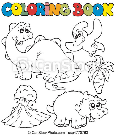Coloring book with dinosaurs 2 - csp4770763