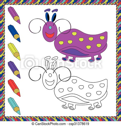 Coloring Book with insects - csp31378619