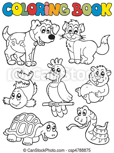 Coloring book with pets 2 - csp4788875