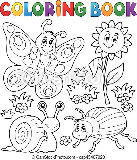 Coloring book with small animals 3 - eps10 vector illustration.