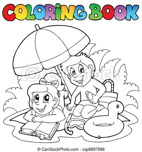 Coloring book with summer theme 2 - csp6897996
