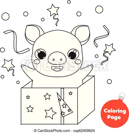 Coloring page 2019 chinese new