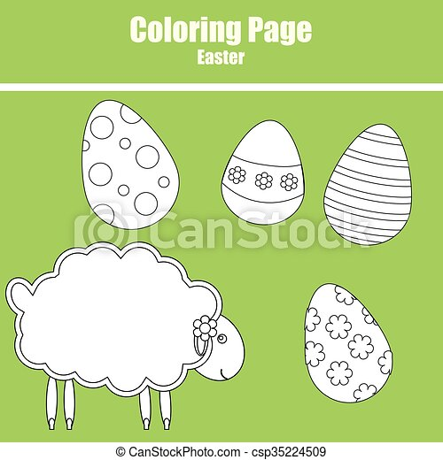 Coloring page. Easter - csp35224509