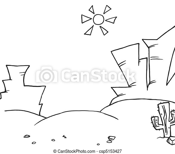Coloring Page Outline Of Landscape