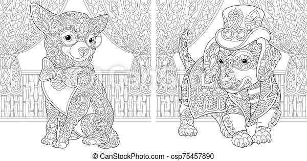 Chihuahua Puppy coloring page   Free Printable Coloring Pages   241x450