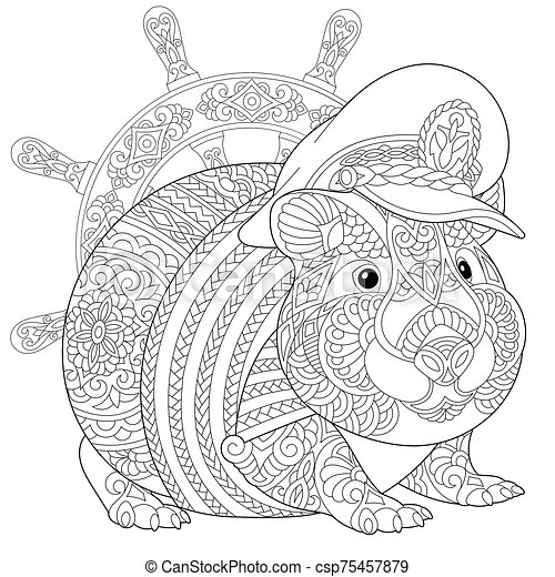 Guinea Pig Coloring Pages - Coloring Home | 470x450