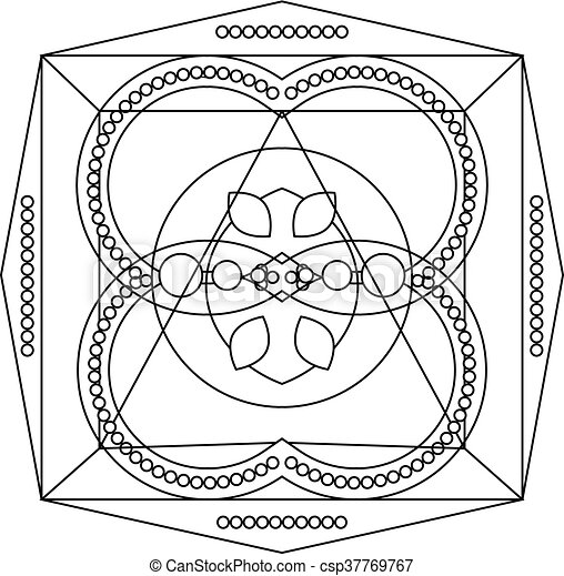 Coloring page with mandala for kids and adults, art therapy,... clip ...