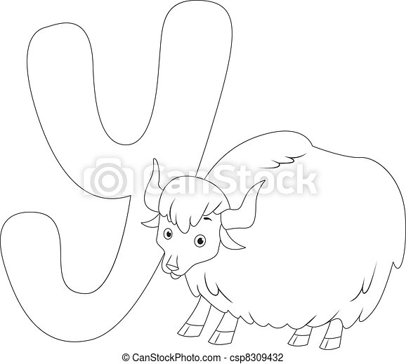 Coloring Page Yak Coloring Page Illustration Featuring A Yak