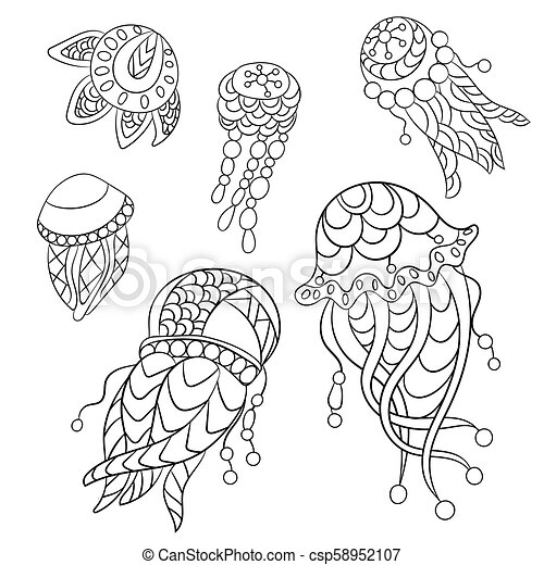 Coloring Pages In Vector Graphic Illustration For Children And