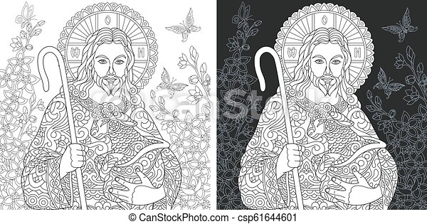 Coloring pages with Jesus Christ